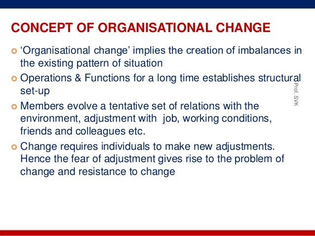 concept of organisational change pdf