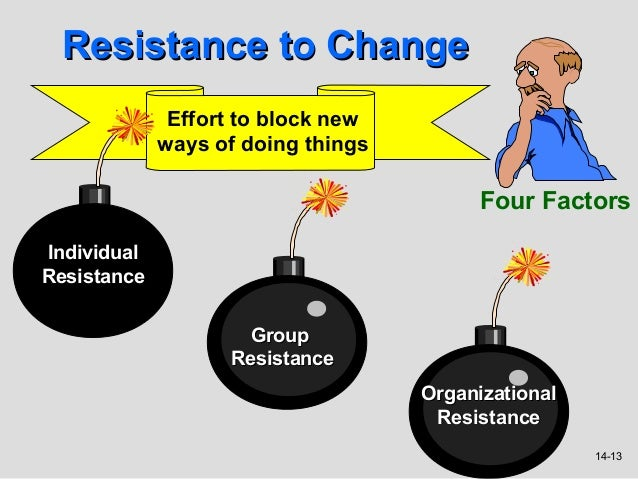 resistance to change in an organisation Advertisements: approaches for reducing resistance to change in business organisations change is often necessary despite the resistance that might arise during downsizing, firms can minimise resistance by communicating the need for new strategies, treating people who are let go with respect and kindness, letting key.