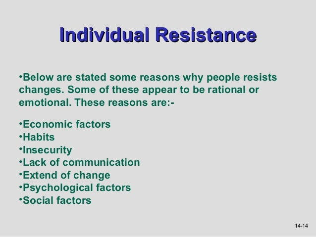 reasons for resistance to change pdf