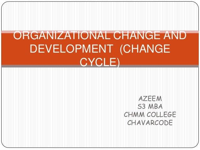 AZEEM S3 MBA CHMM COLLEGE CHAVARCODE ORGANIZATIONAL CHANGE AND DEVELOPMENT (CHANGE CYCLE)