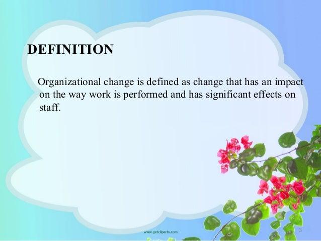 Organizational change & development Slide 3