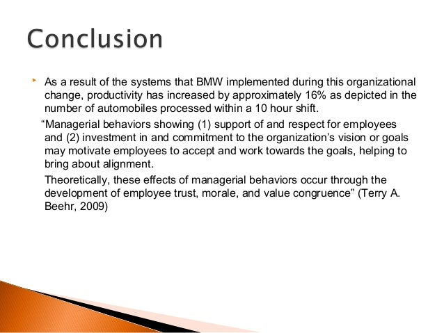 bmw organizational change Bmw connecteddrive contains two components - service, apps and driver  assistance - that keep you connected and in command of every part of your life,  all.