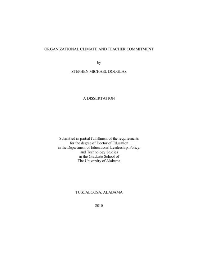 Organizational commitment phd thesis