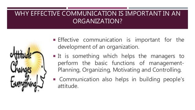 importance of communication in an organization