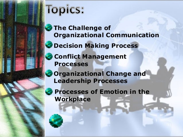 the challenge of organizational communication Provides a clear and thorough explanation of how this may challenge organizational communication provides the title of the press report and when it was released.