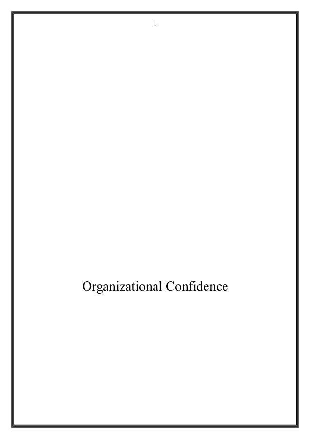 Organizational Confidence 1