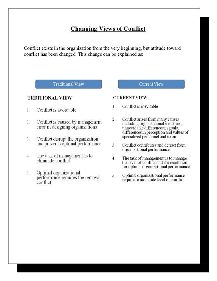 Views of organizational conflict essay