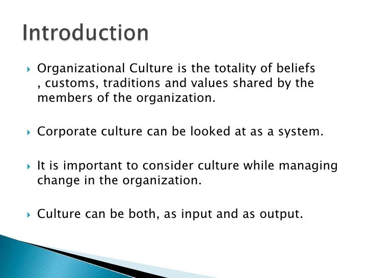 'organizational culture can be one of Organizational culture and (2) organizational structure according to one common what types of organizational culture can increase an organization.