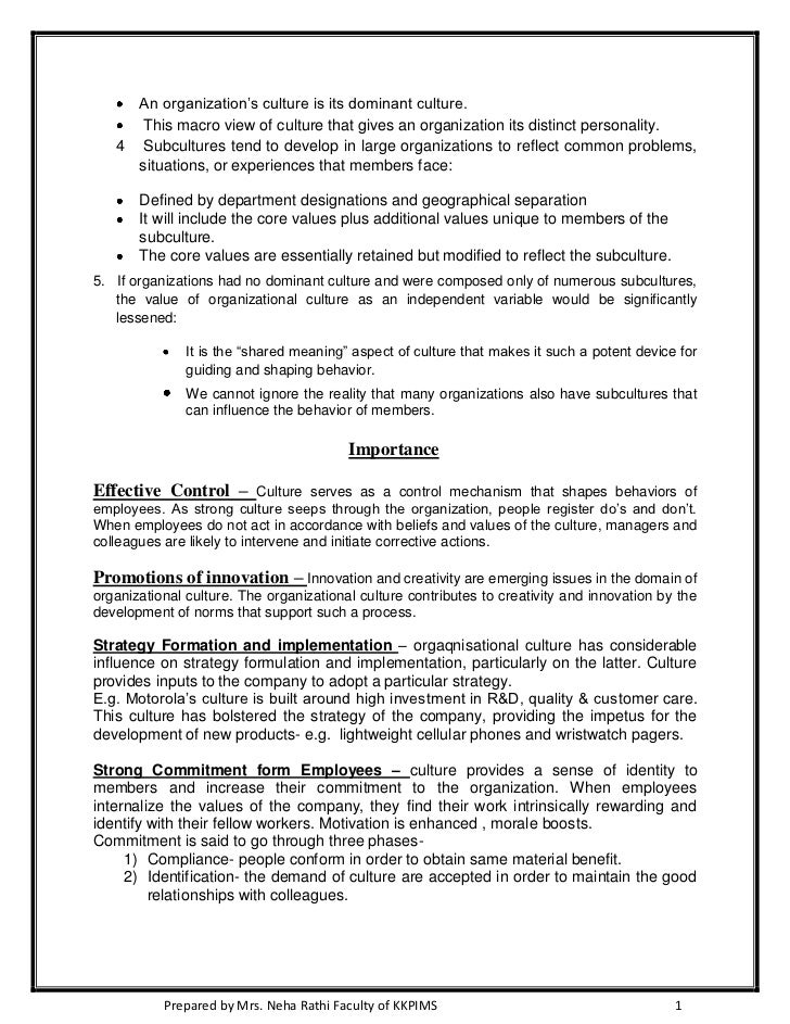 organizational culture essay corporate culture effect on  organizational culture