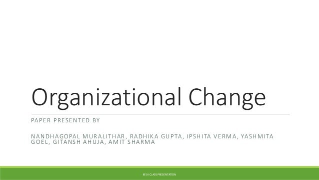 organisational culture change essay The management of organisational culture  culture management and change keywords organisational culture, management, organisational change.