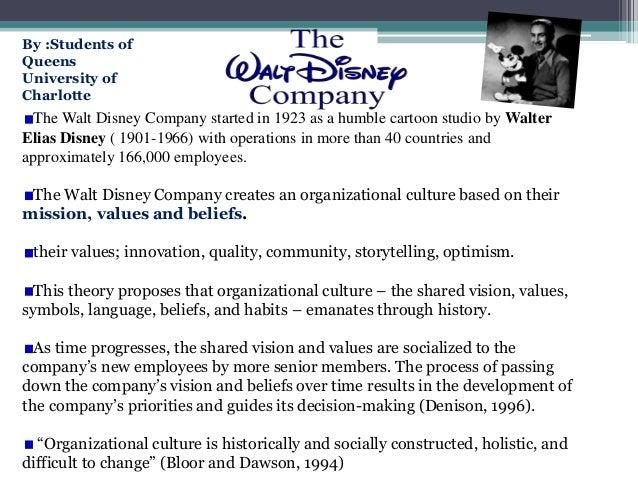 walt disney corporate culture