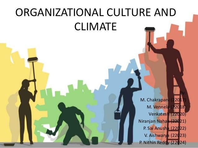 ORGANIZATIONAL CULTURE AND CLIMATE  By: M. Chakrapani (22017) M. Vennela (22018) Venkatesh (22020) Niranjan Nahak (22021) ...
