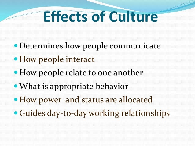 impact of culture on the ethical Make ethical culture a part of every personnel-related function in your organization in which lower-level ethical leaders can flourish- but ethical leadership at the supervisory level has a huge impact on followers' attitudes and behavior.
