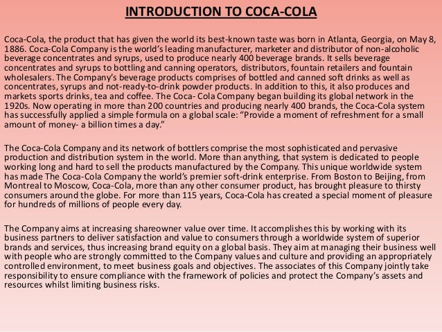 global reach and objectives of coca cola Essay on coca-cola swot analysis - coca-cola swot analysis  the kind of global reach coca cola has  3 marketing objectives 5 constraints 7.