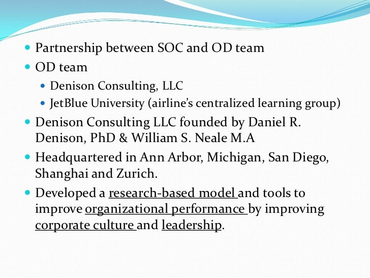  Created a positive atmosphere in the working meeting Met the needs of the SOC crewmembers Follow-up with Denison Surve...