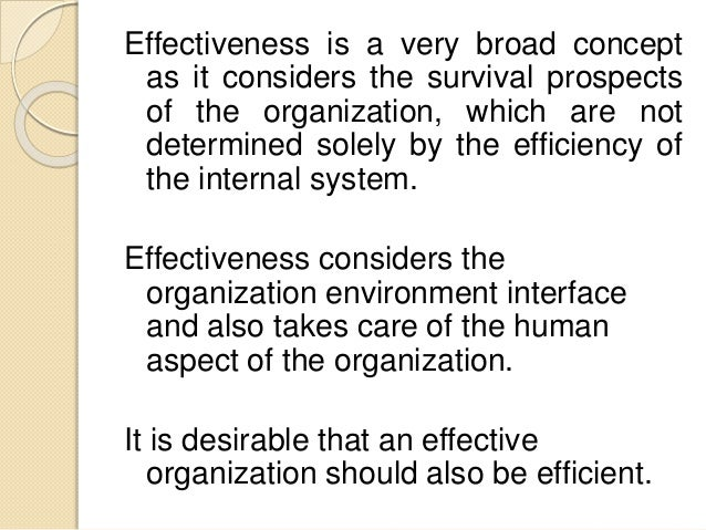 efficient and effective organizational operations will 4 from efficiency to effectiveness transforming the cnande leviyerx min 'i think the shift to be more open to decentralised and external service delivery has been.