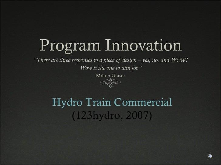 Hydro Train Commercial (123hydro, 2007)