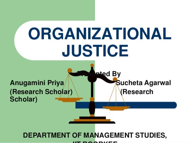 organizational justice articles