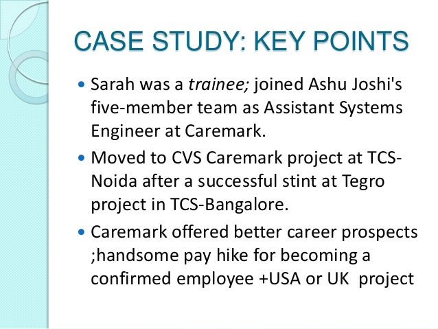 i joined cvs caremark project at tcs noida