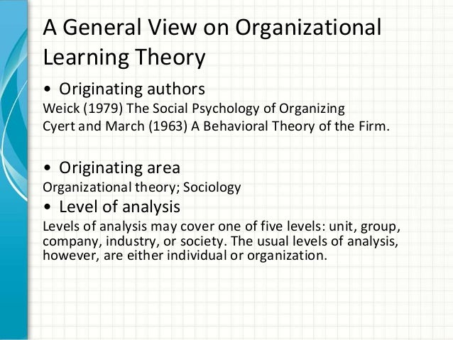 disadvantages of a learning organisation The evaluation of learning and development in the workplace: a review of the literature professor sharon mavin,  31 to the organisation.