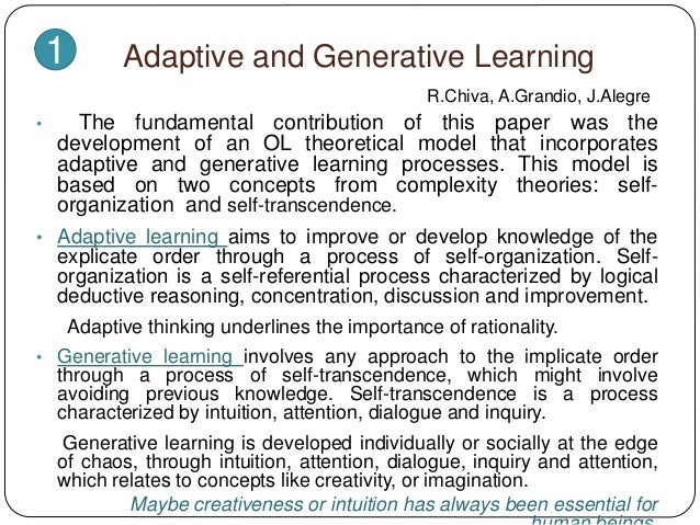 a discussion of learning theory in organisations Role of learning theories in training while training the  learning theories, training, organizational behavior,  discussion training is practical process not .