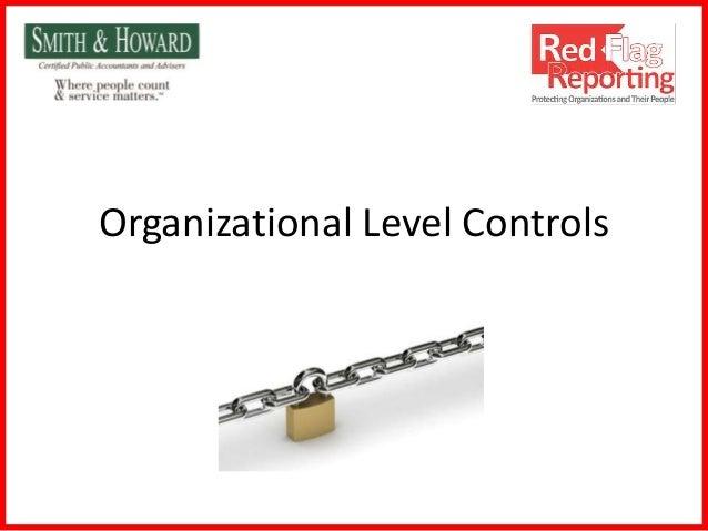 Organizational Level Controls