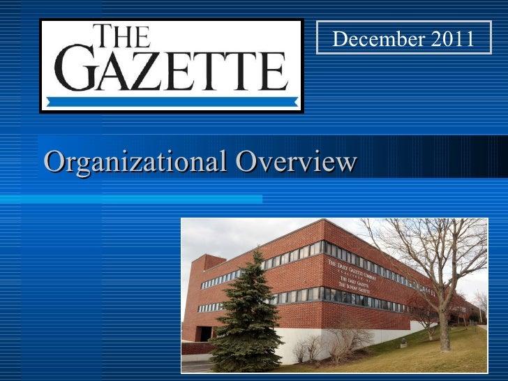 December 2011Organizational Overview