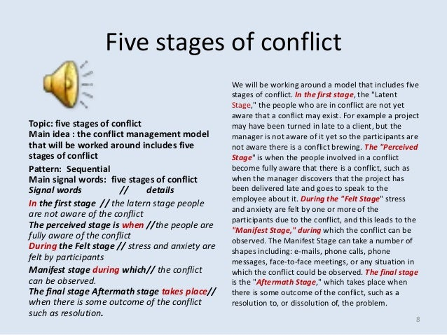 Organizational conflict management pdf