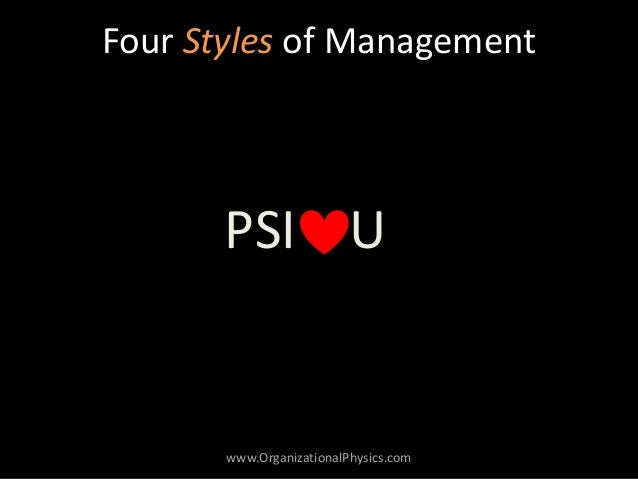 four types of managers Recently, we posted an infographic about the six different styles of management  at first glance, it may appear that some management styles.