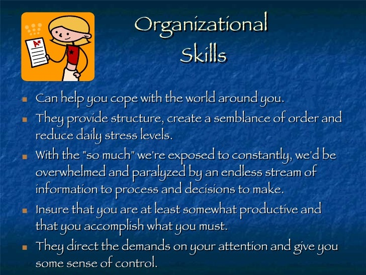 my aspergers child organization skills for children with