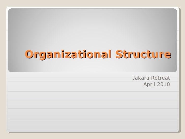 Organizational Structure Jakara Retreat April 2010