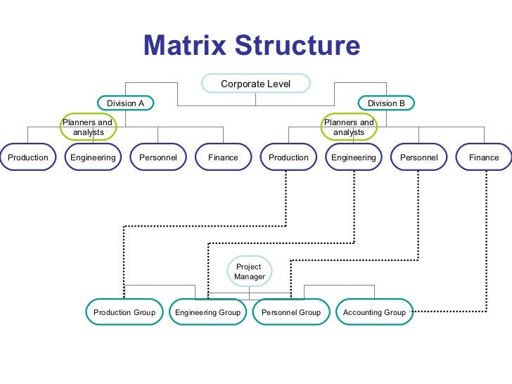 15 matrix structure corporate