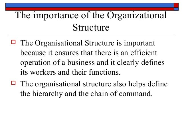 importance of rank structure The hierarchy of authority in an organization is designed to benefit the company and the employees hierarchical organizational structure [importance.