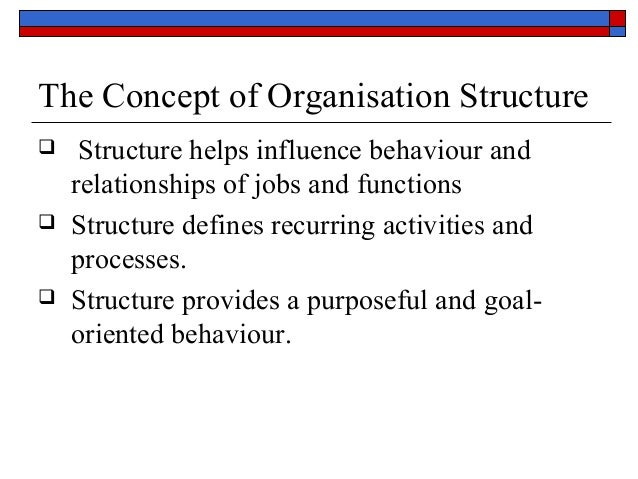 concept of an organization