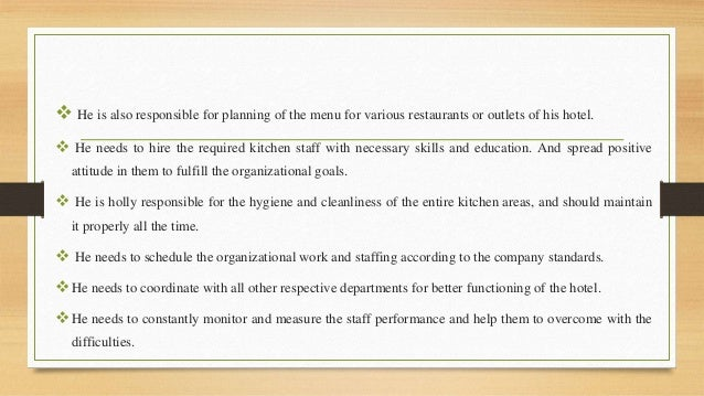 Restaurant Kitchen Organizational Chart organizational structure in kitchen