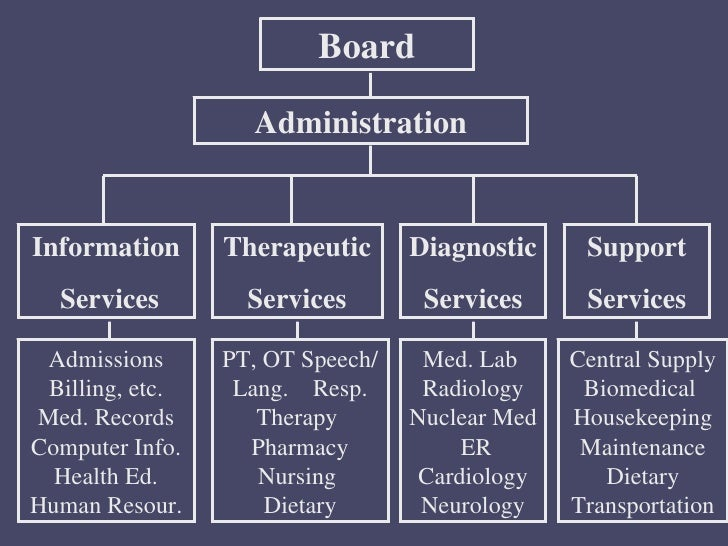 Organizational structure of_a_hospital