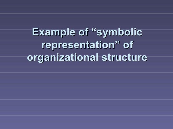 "Example of ""symbolic   representation"" oforganizational structure"