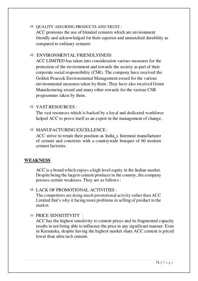 organisation study of acc cement Jk cement works (fujairah) fzc  jaykaycem (central) limited company policy brands  grey portfolio  jk super cement - opc jk super cement - ppc jk super cement .