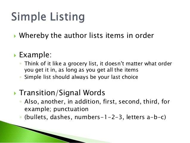 Organizational text patterns, part 2