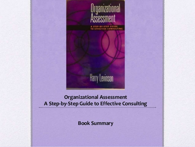 Organizational Assessment A Step-by-Step Guide to Effective Consulting Book Summary
