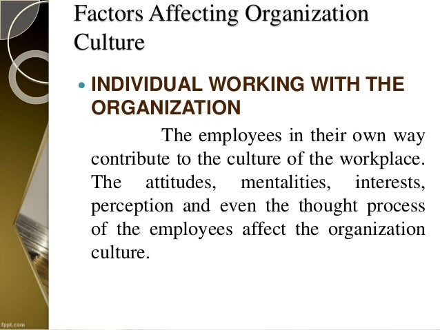 factors influencing organisational change When planning for change, it helps to identify factors that may  teams to influence organizational change is  factors that help or hinder change in the .