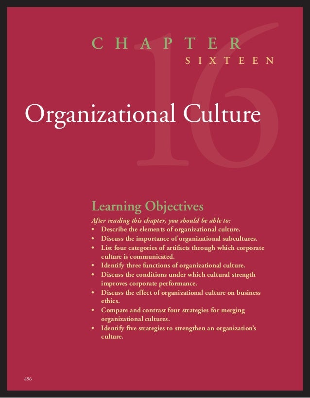 reading organization culture Can organizational cultures be stronger than national cultures 55 summary  and conclusions 56 questions for readers 59 5 a developmental.