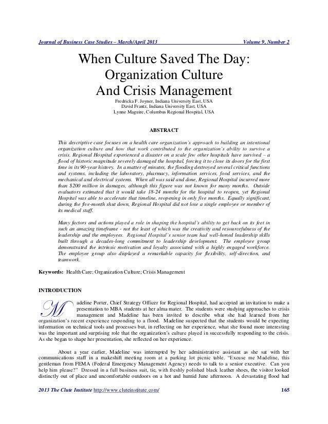 Journal of Business Case Studies – March/April 2013                                               Volume 9, Number 2      ...