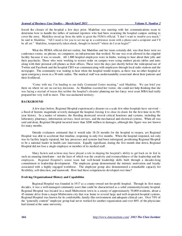 Journal of Business Case Studies – March/April 2013                                              Volume 9, Number 2forced ...