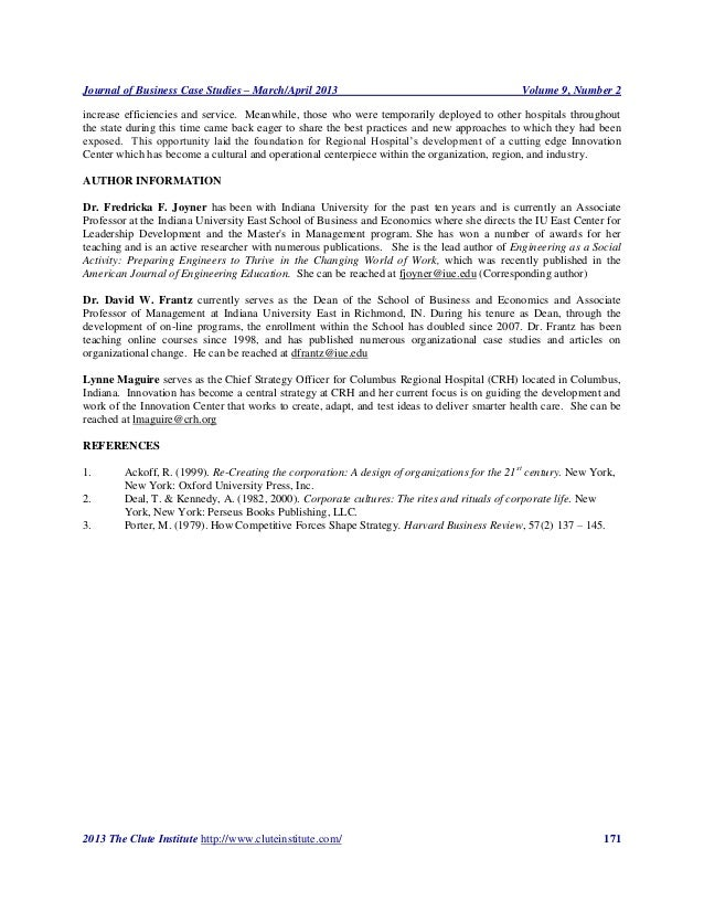 Journal of Business Case Studies – March/April 2013                                           Volume 9, Number 2increase e...