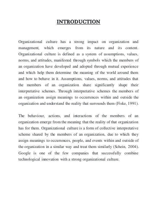 an introduction to the partial requitement for organizational behavior A paper submitted to dr eren ozgen in partial fulfillment of the requirements for contents introduction 3 the organizational behavior practices and.