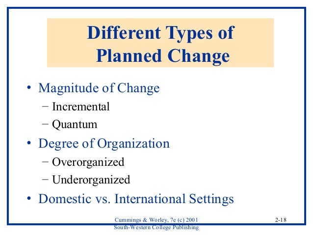 theories of planned change in organisational development pdf