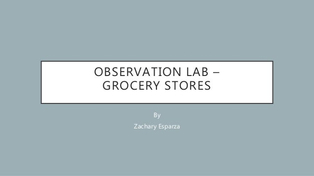 OBSERVATION LAB – GROCERY STORES By Zachary Esparza