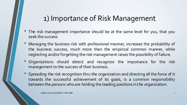 the importance of risk management in organizations Why is enterprise risk management important for preparedness by carol a fox, arm the amount of risk the organization can tolerate, and what fits within its culture advancing the practice of risk management.