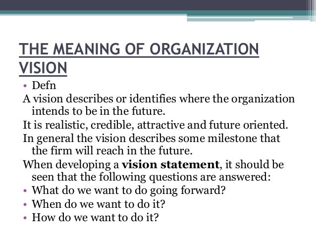 vision statement meaning
